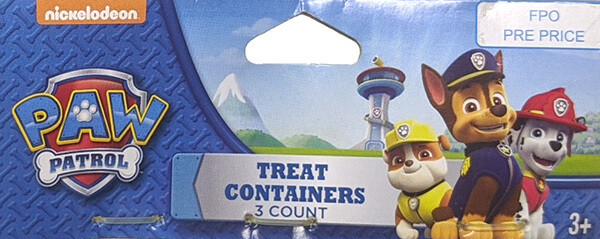 Paw Patrol Party Favors: 3 Count Treat Containers