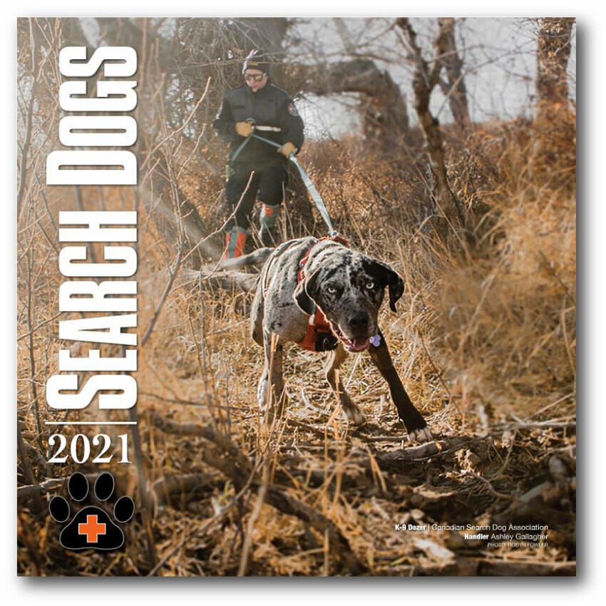 2021 SEARCH DOGS Wall Calendar