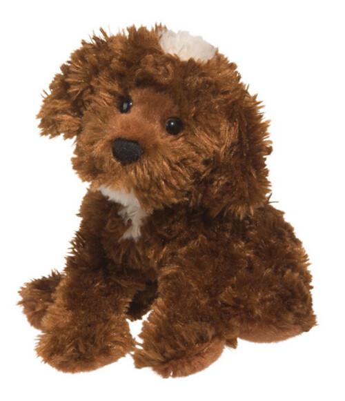 Plush Pup Standing: Chocolate Labradoodle
