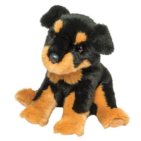 Plush Pup Sitting: Rottweiler