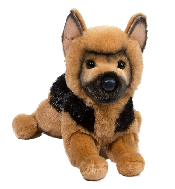 Plush Pup Slouch: German Shepherd
