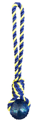 Knotted Rope Tug with Rubber Tennis Ball