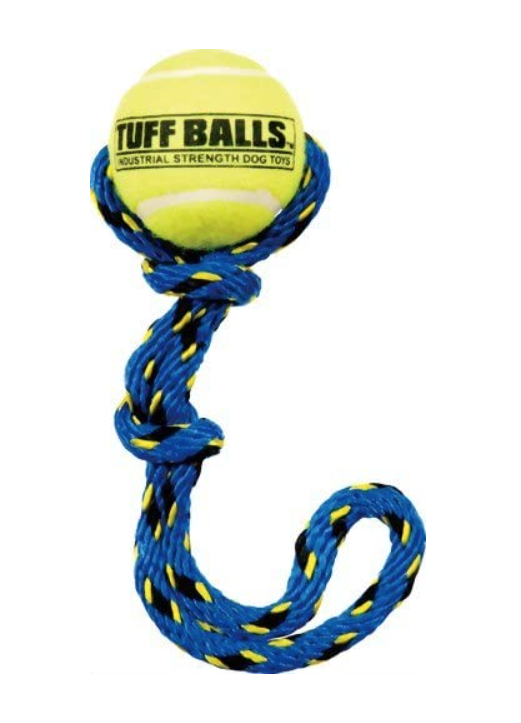 Large Tennis Ball with Rope Tug