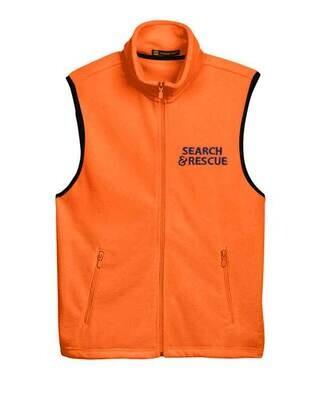 Full-Zip Fleece Vest: SAR Logo
