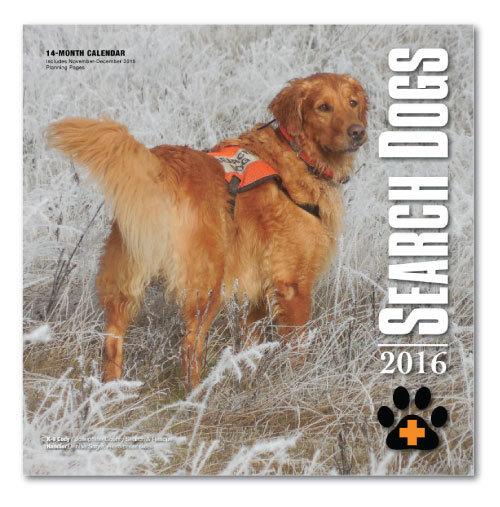 2016 SEARCH DOGS Wall Calendar