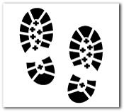 Helmet Decal (Reflective): Boot Print
