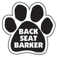 Paw Magnet: BACK SEAT BARKER