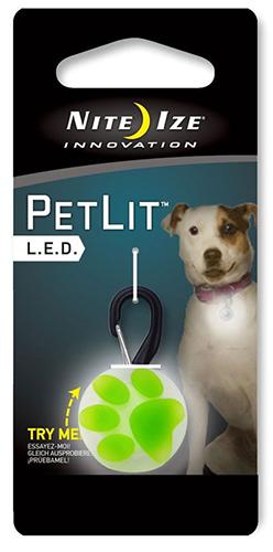 Nite Ize PetLit LED Clip-On: Lime Paw