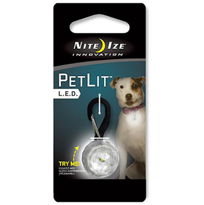 Nite Ize PetLit LED Clip-On: Jewel Crystal