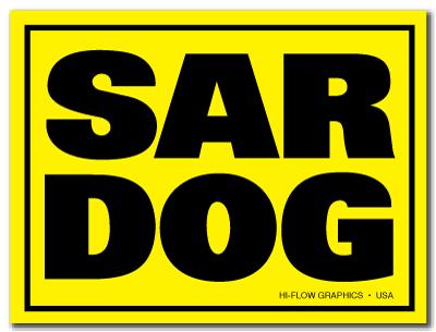 Reflective Patch: SAR DOG