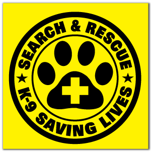 Reflective Patch: SAR K-9 Saving Lives Logo