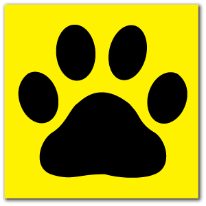 Reflective Patch: Paw Print