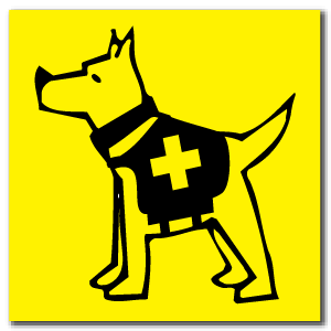 Reflective Patch: SAR Dog Logo