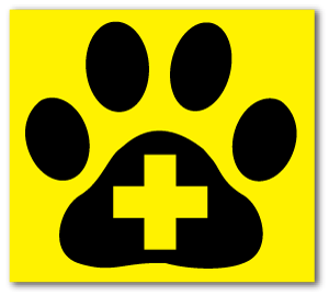 Reflective Patch: Paw Cross