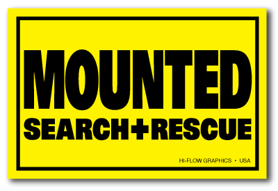Reflective Patch: MOUNTED SEARCH & RESCUE