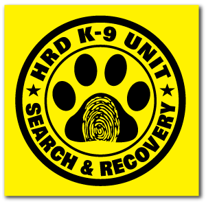 Reflective Patch: HRD K-9 UNIT Logo