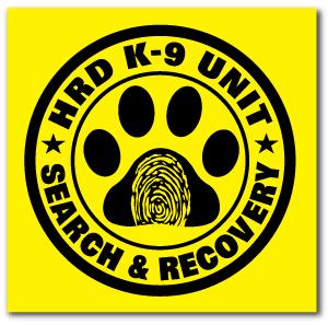 Reflective Patch: HRD K-9 UNIT Logo