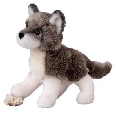 Plush Pup Standing: Wolf Hybrid