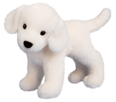 Plush Pup Standing: Yellow Lab