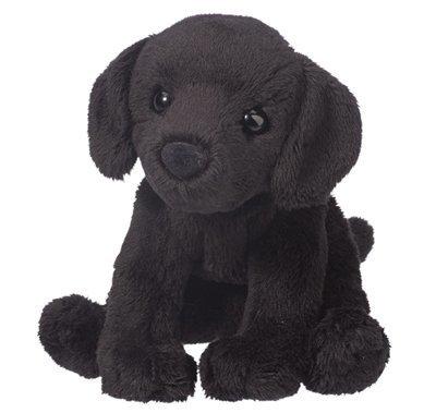 Plush Pup Sitting: Black Lab