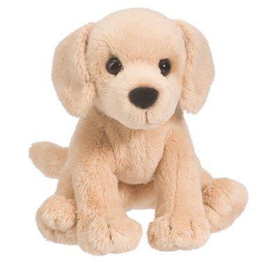 Plush Pup Sitting: Yellow Lab