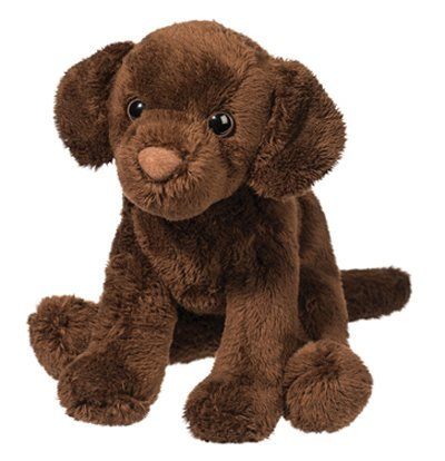 Plush Pup Sitting: Chocolate Lab