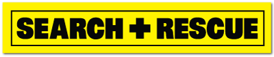 Reflective Patch: SEARCH + RESCUE Name Strip