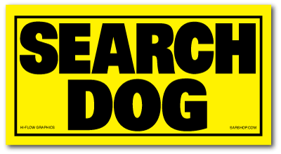Reflective Patch: SEARCH DOG