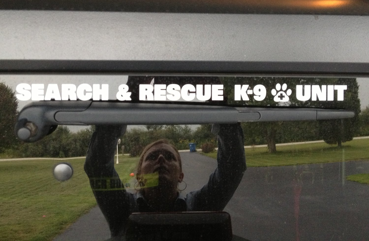 Window Decal (Reflective Die-Cut): SEARCH & RESCUE K-9 UNIT