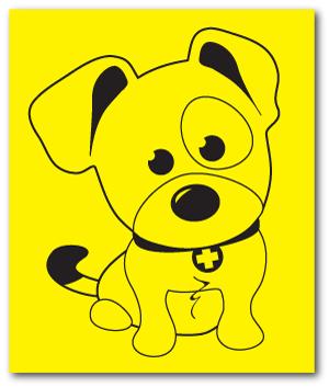 Reflective Patch: SAR K-9 Pup