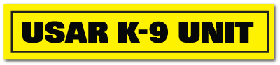 Reflective Patch: USAR K-9 UNIT Name Strip