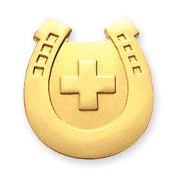 Lapel Pin: Horseshoe Cross