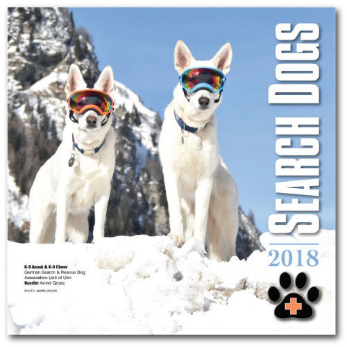 2018 SEARCH DOGS Wall Calendar
