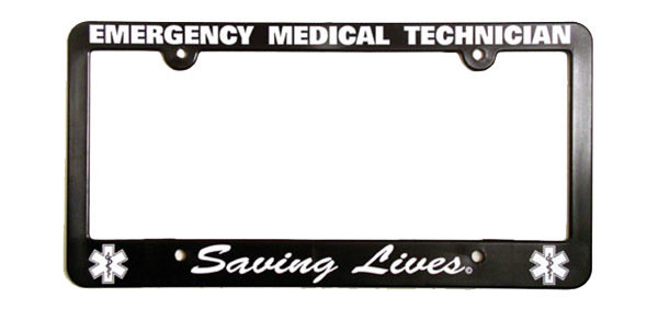 License Plate Frame: EMT