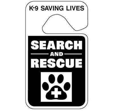 Parking ID Tag (Reflective): SAR K-9