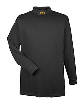 Mock Turtleneck Long Sleeve: Paw K-9 (Center)
