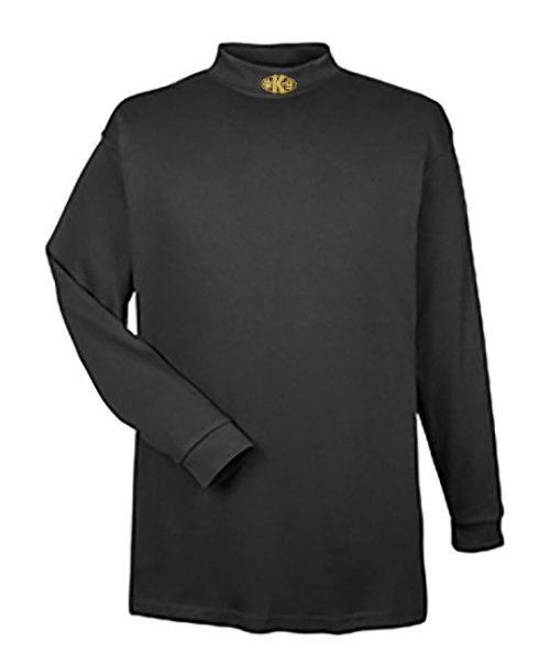 Mock Turtleneck Long Sleeve (Dri-Wear): Paw K-9 (Center)