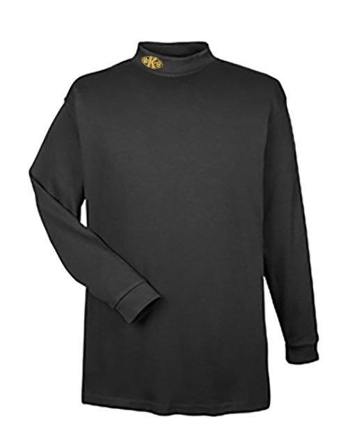 Mock Turtleneck Long Sleeve (Dri-Wear): Paw K-9 (Side)