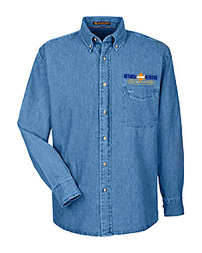 Long Sleeve Denim Shirt: Mounted Search & Rescue