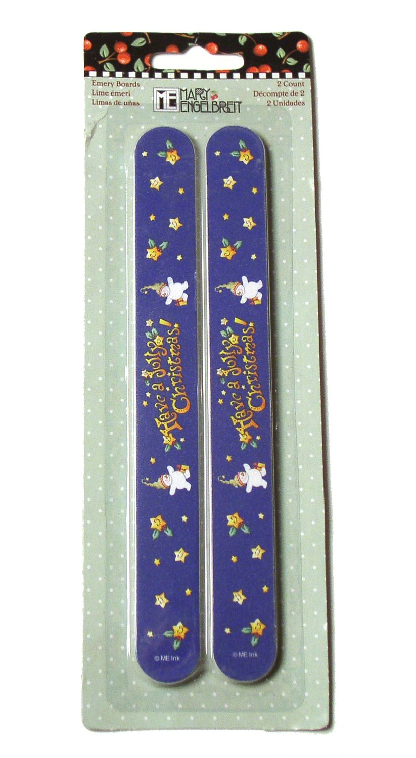 Emery Boards (Set of 2): Have a Jolly Christmas
