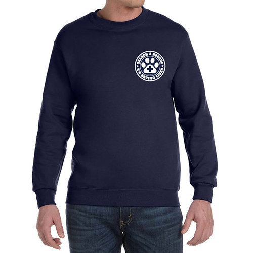 Crewneck Sweatshirt: SAR K-9 Saving Lives