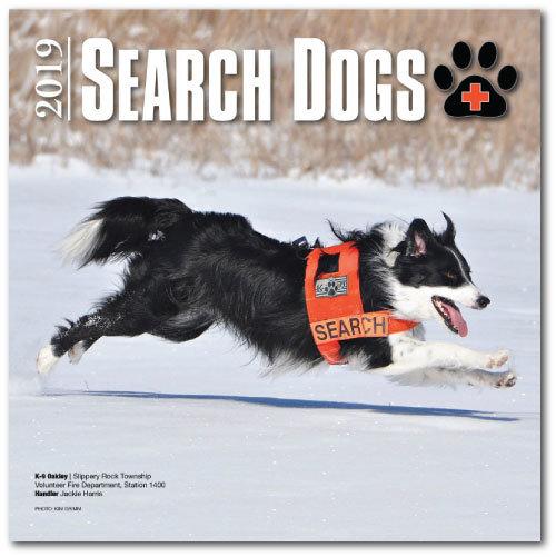 2019 SEARCH DOGS Wall Calendar