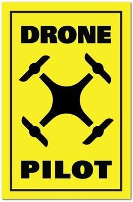 Reflective Patch: DRONE PILOT