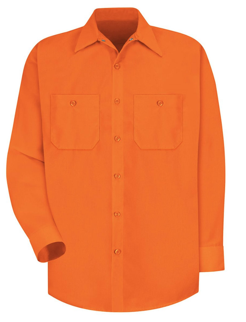 Red Kap® Uniform Long Sleeve Shirt (High Visibility)