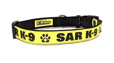Safety Dog Collar (Reflective): SAR K-9
