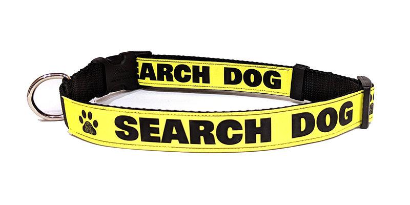 Safety Dog Collar (Reflective): SEARCH DOG