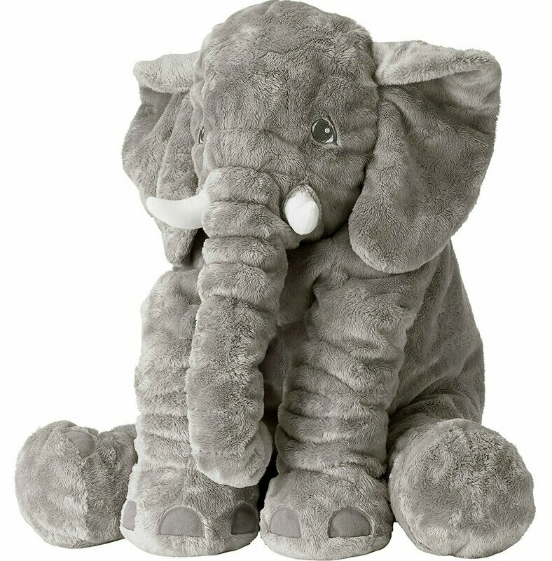 Sooften Stuffed Elephant Plush Toy 24 inch/60cm Gray