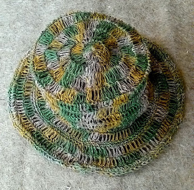 Nepalese Green Hemp Jali Sun Hat