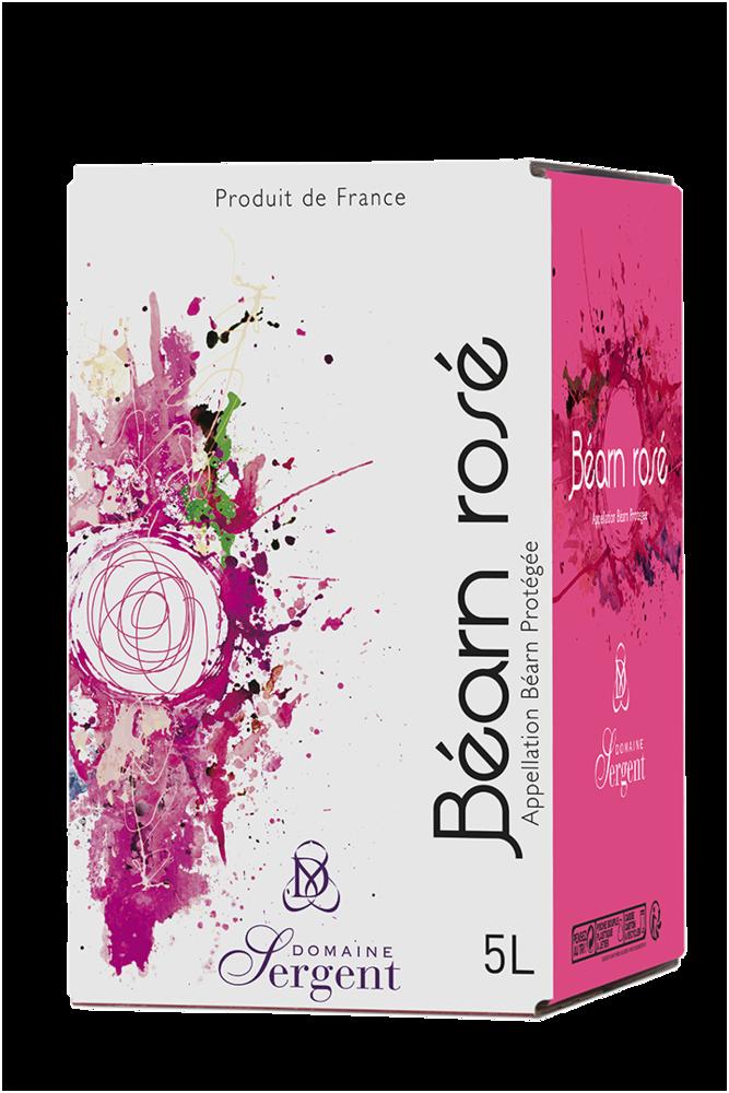 Le Rosé Domaine Sergent - Béarn rosé - Outre à vin 5 litres - Millésime 2019