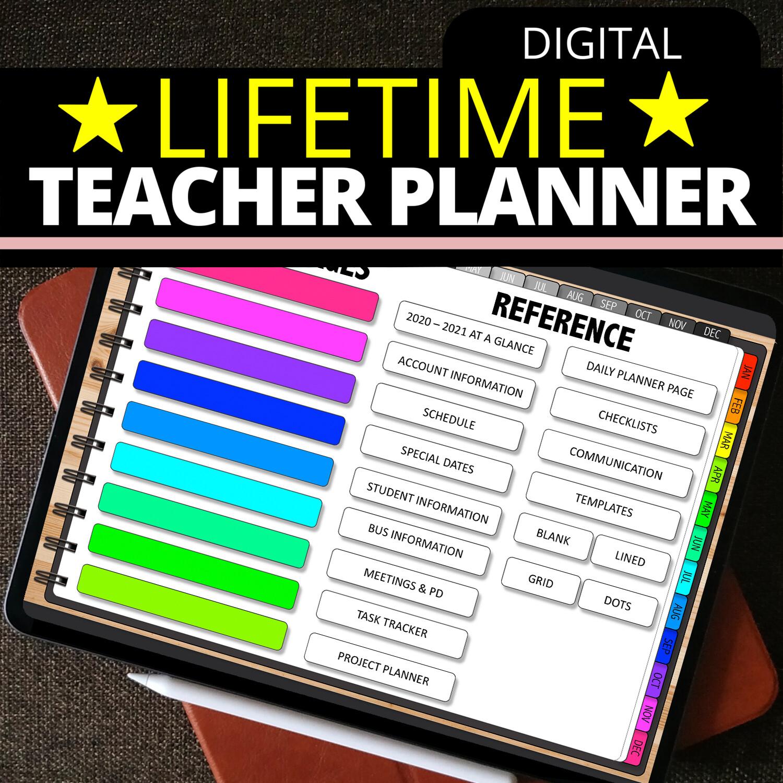 LIFETIME TEACHER PLANNER (Current 2020-2021)